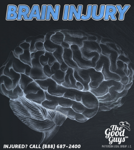 Image of a Brain highlighting services for KS Brain Injury Lawyer