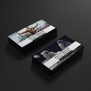 Our new business cards, created by our newest attorney, Tyler Patterson, were recently featured in the Inspiration Gallery at Moo.com