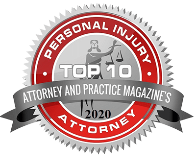 Top Ten Personal Injury Attorney from Attorney & Practice Magazine 2020